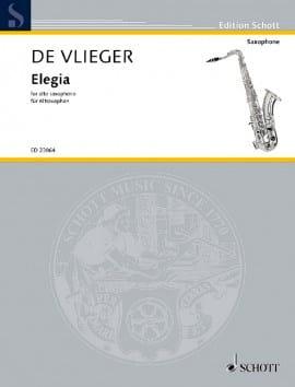 Elegia - Henk De Vlieger - Partition - Saxophone - laflutedepan.com