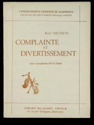 Complainte Et Divertissement - René Mignion - laflutedepan.com