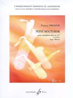 Petit nocturne Pascal Proust Partition Saxophone - laflutedepan