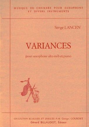 Variances Serge Lancen Partition Saxophone - laflutedepan