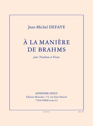 A la Manière de Brahms Jean-Michel Defaye Partition laflutedepan