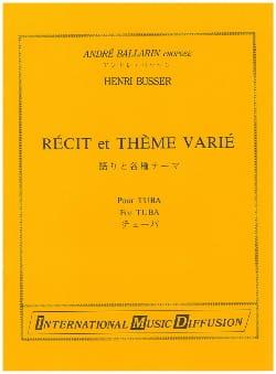 Récit et Thème Varié Henri Busser Partition Tuba - laflutedepan