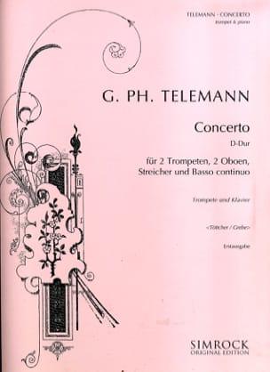 Concerto D Major TELEMANN Partition Trompette - laflutedepan