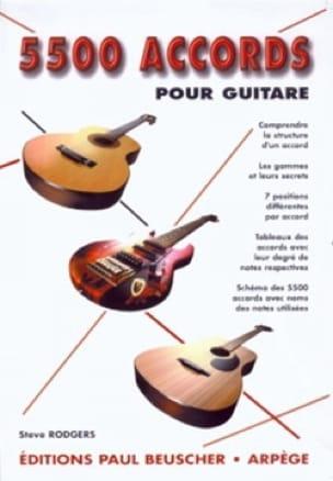 5500 Accords Pour Guitare - Steve Rodgers - laflutedepan.com