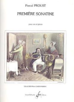 Première sonatine Pascal Proust Partition Cor - laflutedepan