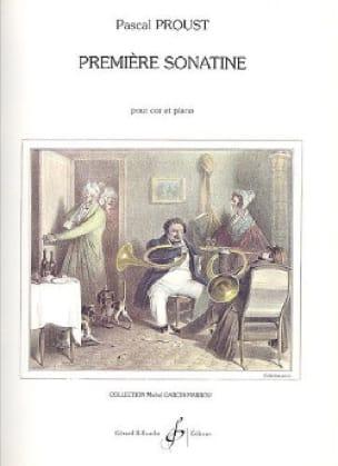 Première sonatine - Pascal Proust - Partition - Cor - laflutedepan.com