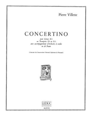 Concertino Pierre Villette Partition Trompette - laflutedepan