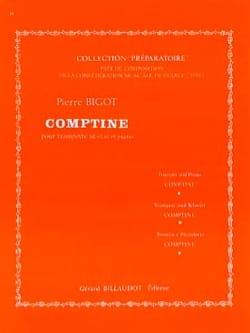 Comptine Pierre Bigot Partition Trompette - laflutedepan