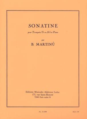 Sonatine MARTINU Partition Trompette - laflutedepan