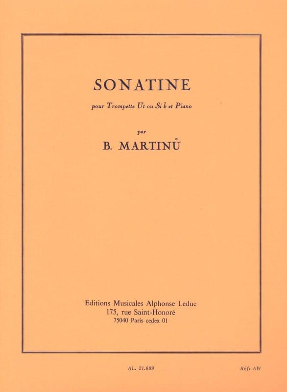 Sonatine - MARTINU - Partition - Trompette - laflutedepan.com