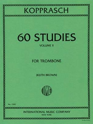 60 Studies Volume 2 Georg Kopprasch Partition Trombone - laflutedepan