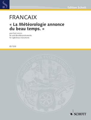 La Météorologie Annonce du Beau Temps FRANÇAIX Partition laflutedepan