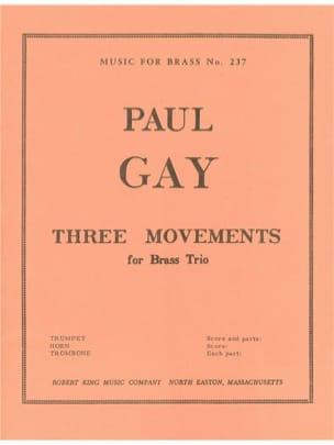 3 Mouvements Paul Gay Partition Ensemble de cuivres - laflutedepan