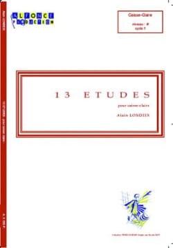 13 Etudes Alain Londeix Partition Caisse-claire - laflutedepan