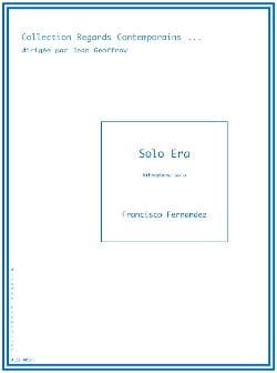 Solo Era Francisco Fernandez Partition Vibraphone - laflutedepan