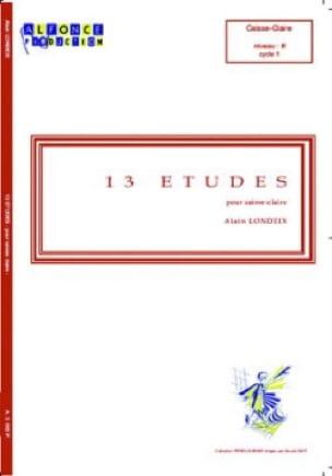 13 Etudes - Alain Londeix - Partition - laflutedepan.com