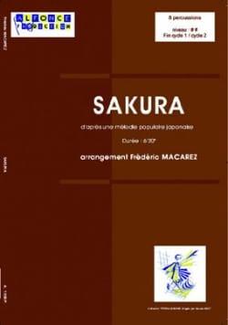 Sakura Frédéric Macarez Partition laflutedepan