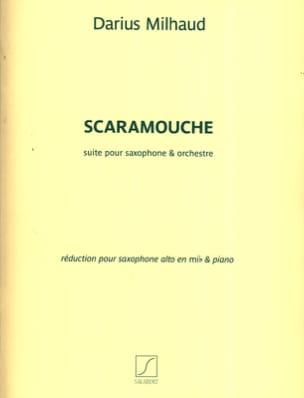 Scaramouche MILHAUD Partition Saxophone - laflutedepan