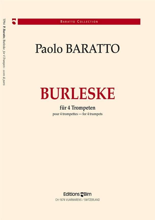 Burleske - Paolo Baratto - Partition - Trompette - laflutedepan.com