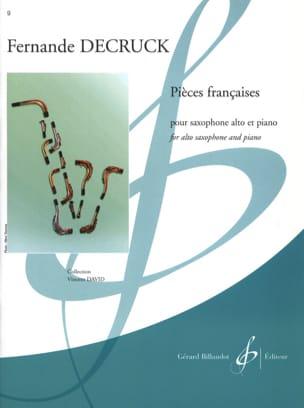 Pieces Françaises Fernande Decruck Partition Saxophone - laflutedepan