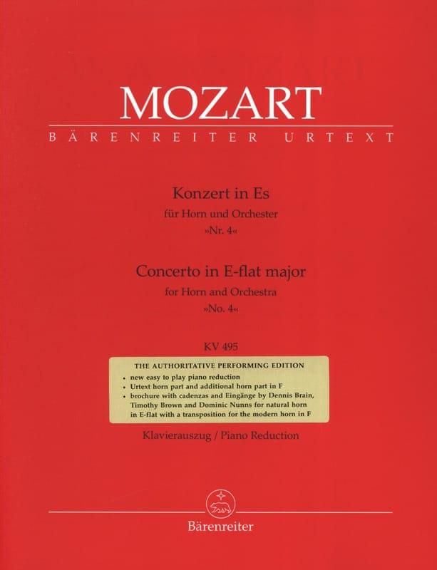 Concerto N° 4 In E-Flat Major KV 495 - MOZART - laflutedepan.com
