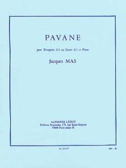 Pavane Jacques Mas Partition Trompette - laflutedepan
