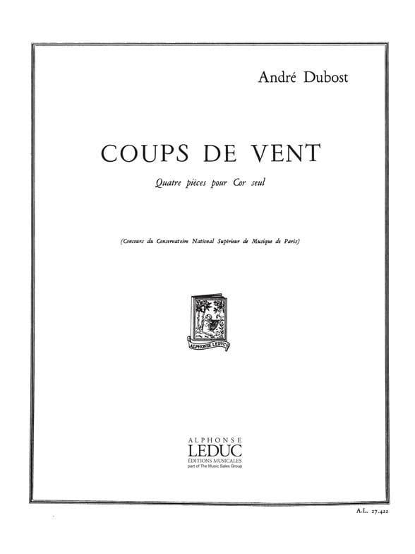 Coups de Vent - André Dubost - Partition - Cor - laflutedepan.com