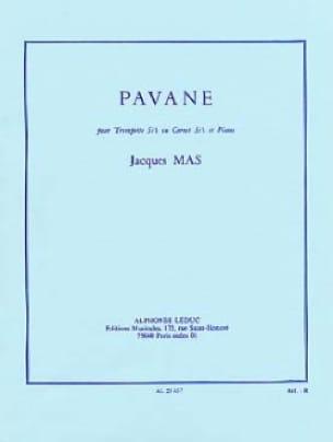 Pavane - Jacques Mas - Partition - Trompette - laflutedepan.com