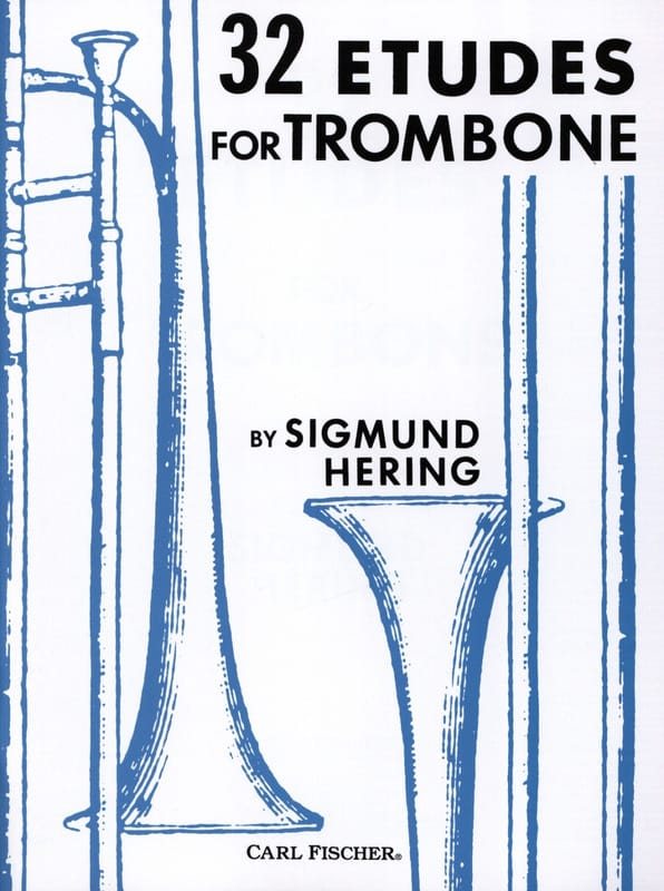 32 Etudes For Trombone - Sigmund Hering - Partition - laflutedepan.com