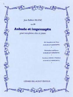 Aubade Et Impromptu Opus 29 Jean Robert Blanc Partition laflutedepan