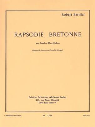 Rapsodie Bretonne Bariller Partition Saxophone - laflutedepan
