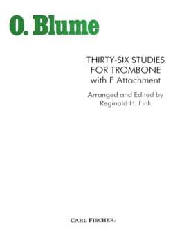 36 Etudes With F Attachment For Trombone O. Blume laflutedepan