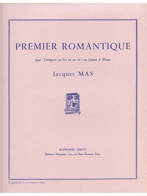 Premier Romantique - Jacques Mas - Partition - laflutedepan.com