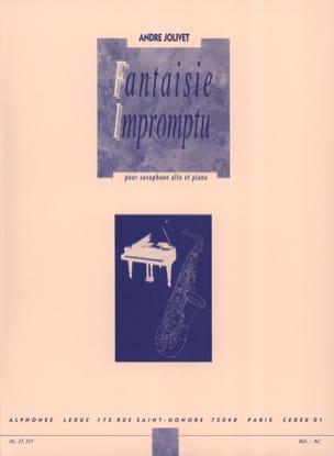 Fantaisie Impromptu André Jolivet Partition Saxophone - laflutedepan