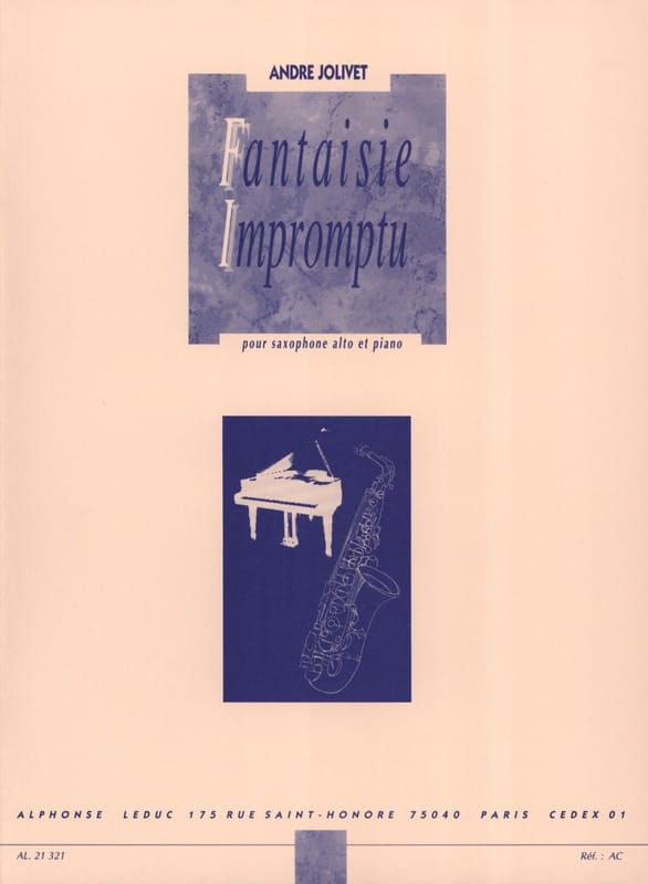 Fantaisie Impromptu - André Jolivet - Partition - laflutedepan.com