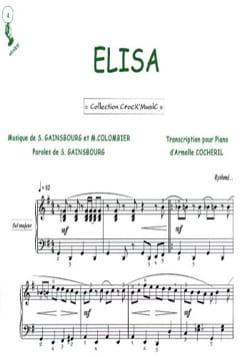 Elisa Serge Gainsbourg Partition Chanson française - laflutedepan