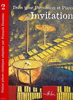 Invitation Volume 2 Partition Multi Percussions - laflutedepan