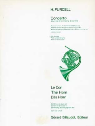 Concerto - PURCELL - Partition - Cor - laflutedepan.com