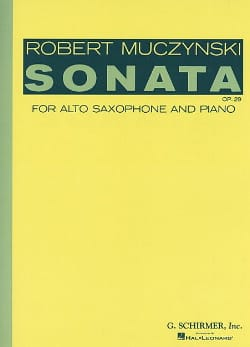 Sonata Opus 29 Robert Muczynski Partition Saxophone - laflutedepan