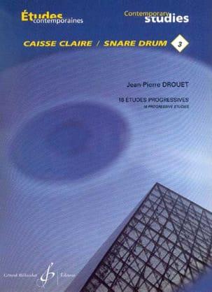 3 - 18 Etudes progressives Jean-Pierre Drouet Partition laflutedepan