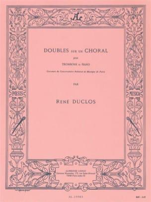 Doubles Sur Un Choral René Duclos Partition Trombone - laflutedepan