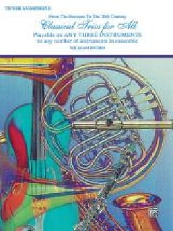 Classical Trios For All Partition Saxophone - laflutedepan