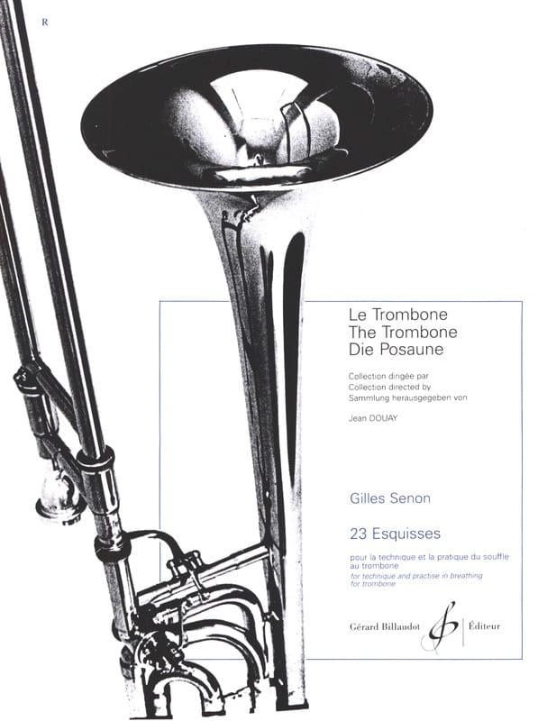 23 Esquisses - Gilles Senon - Partition - Trombone - laflutedepan.com