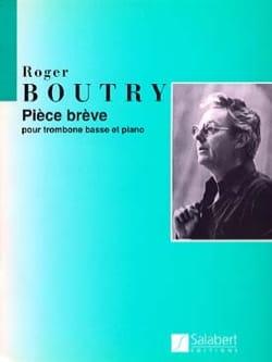 Pièce Brève Roger Boutry Partition Trombone - laflutedepan