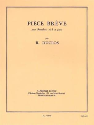 Pièce Brève René Duclos Partition Saxophone - laflutedepan