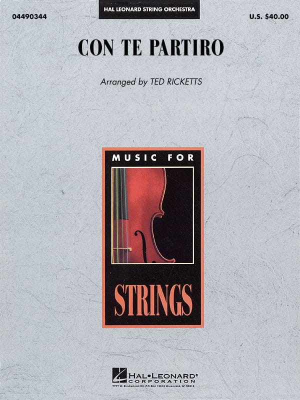 Con Te Partiro (Time To Say Goodbye) - Pop Specials for Strings - laflutedepan.com