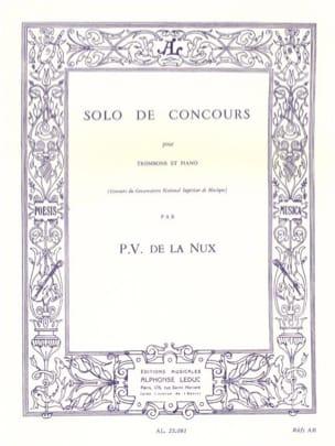 Solo de Concours P.V. de La Nux Partition Trombone - laflutedepan