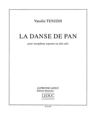 La Danse de Pan Vassilis Tenidis Partition Saxophone - laflutedepan