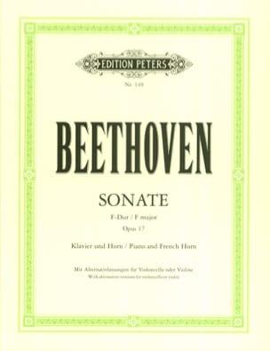 Sonate pour Cor Opus 17 en Fa Majeur BEETHOVEN Partition laflutedepan