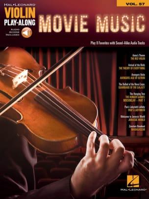 Violin Play-Along Volume 57 Movie Music Partition laflutedepan